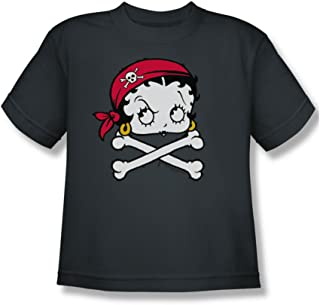 1d417fee3eee Betty Boop - Pirate - Youth Charcoal S/S T-Shirt For Boys