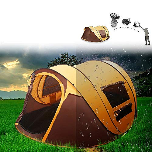 LIUWUSAH Beach Pop Up Tent Canopy Camping Automatic Waterproof Dome Family Tents 5-8 Person Canopy Easy to Set up and Carrying Bag for Travel Hiking Fishing