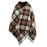 MengH-SHOP Bufandas Tartán Bufanda para Mujer Otoño Invierno Caliente Chales Larga Estolas Cozy Pashmina para Mujer 200 * 75cm Marrón