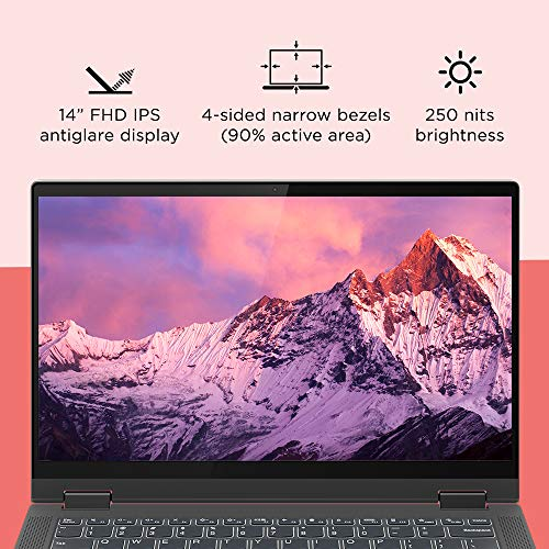 Lenovo IdeaPad Flex 5i 10th Gen Intel Core i3 14 inch Full HD IPS 2-in-1 Convertible Laptop (8GB/512GB SSD/Windows 10/MS Office 2019/Graphite Grey/1.5Kg), 81X10084IN