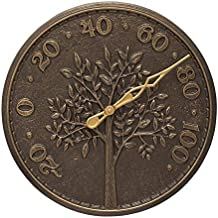 Whitehall Products 10438 Tree of Life 16 Indoor Outdoor Wall Thermometer in French Bronze