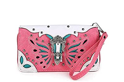 Cowgirl Trendy Western Style Ostrich Wallet (Pink)