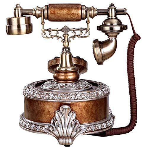 Teléfono Retro Vintage, teléfono Fijo con Cable de Estilo Antiguo con dial de Botones, decoración para el hogar y la Oficina, decoración para el Escritorio del hogar