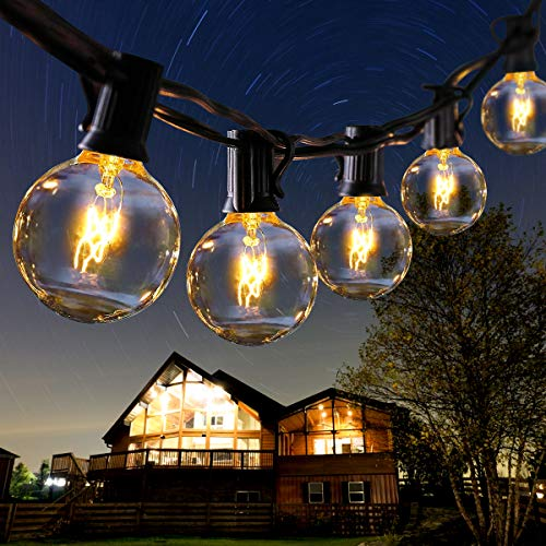 ROVLAK Catena Luci 30+5 Esterno Luminosa Lampadine IP44 Impermeabile Illuminazione Giardino G40 Bulbi 11m Lucine da Esterno Decorative per Festa Natale Terrazza Matrimonio Partito