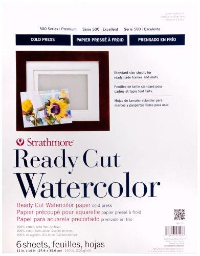 Strathmore Ready Cut W/C Sheet 11x14 in 140lb Cp White
