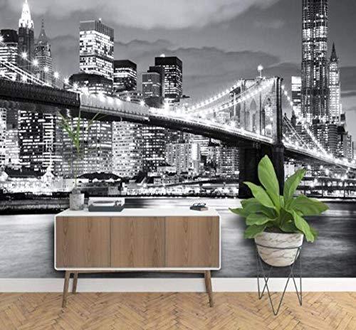 3D vliesbehang foto vlies premium fotobehang Brooklyn Bridge New York designer wandfoto vinylbehang 250*175 250 x 175 cm.