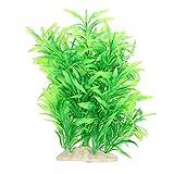 Qinlorgon 【Venta del día de la Madre】 Paisajismo de Hierba de Agua, Hojas de bambú Artificiales de Paisaje Paisajismo de Acuario de Hierba de Agua, para Acuario(Bamboo Leaf Tree)