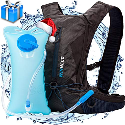 Hydration Backpack for Running Walking Hiking Biking Cycling Skiing - 50 OZ/1.5L Pack Water Bladder - Lightweight Running Gear - for Women Men Kids - Perfect Outdoor Camping Gear - Hydration Vest