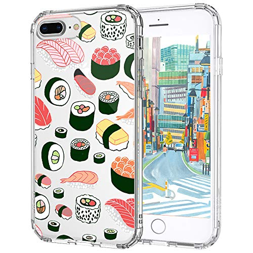 MOSNOVO Cover iPhone 7 Plus, Cover iPhone 7 Plus Trasparente con Disegni Cute Series TPU Bumper con Rigida Trasparente Cover per iPhone 7 Plus (5.5 Pollici) (Sushi)