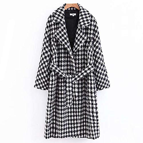 NXLWXN Damesjas, warm, lang, knoop, jas, met riem, tassen