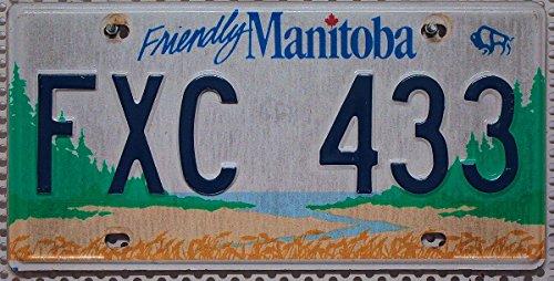MANITOBA Nummernschild KANADA Auto-Kennzeichen , Blechschild aus Nordamerika , CANADA License Plate