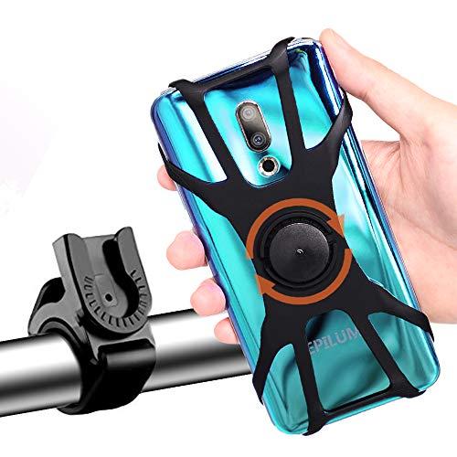 Supporto Bici Smartphone, Porta Cellulare Bici Supporto 360° Rotabile Universale Staccabile Telefono per Bici Moto Bicicletta Ciclismo GPS Nacigatore per iPhone 11 X XS Max XR 8 Plus, Samsung S8 S9+