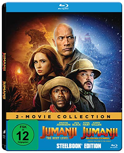 Jumanji: The Next Level / Jumanji: Willkommen im Dschungel (Exklusiv bei Amazon.de) - Steelbook Blu-ray