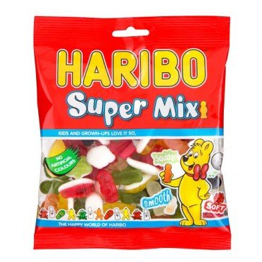 Original Haribo Supermix Fruit and Milk Flavour Gums Imported From The UK England