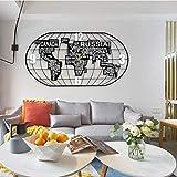 QHW Reloj de Pared con Mapa del Mundo Creativo 3D, Reloj de Pared con Foto Simple y Moderno, Reloj de decoración de Pared de Fondo, silencioso (sin batería)