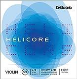 D'Addario Bowed Jeu de cordes avec corde de Mi à filet pour violon D'Addario Helicore, manche 4/4, tension Light