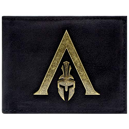 Cartera de Assassins Creed Odyssey Sparta Logo Negro