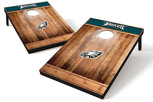 Wild Sports NFL Cornhole Outdoor Game Set, MDF Wood, Brown, 2' x 3' Foot - Recreational Series