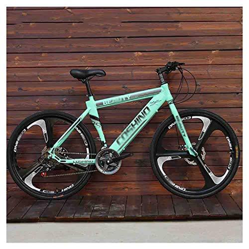 LILIS Bicicleta Montaña Bicicletas de montaña for Adultos Bicicletas MTB Hombres de Camino de la Bicicleta for Las Mujeres de 24 Pulgadas Ruedas Ajustables Doble Freno de Disco