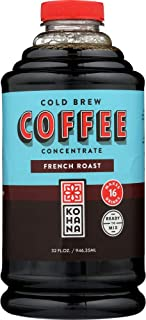 Kohana Cold Brew Coffee Concentrate, Conventional, French Roast, 32 Ounce, Best Zero Calorie Low Acid Iced Coffee, Instant, Convenient and On The Go, Makes 16 Drinks, Single Bottle