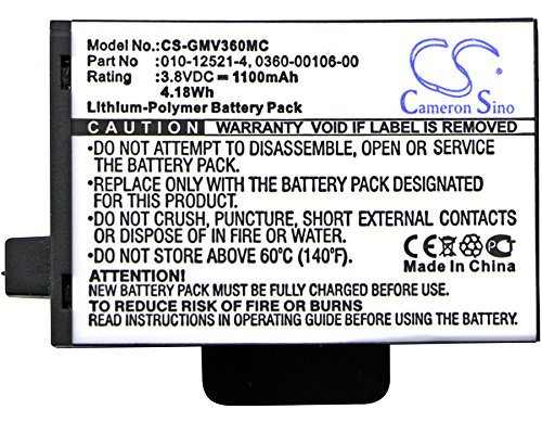 High Capacity 1100mAh / 4.18Wh Replacement Battery for Garmin Virb 360 010-12521-40, 360-00106-00, 361-00106-00