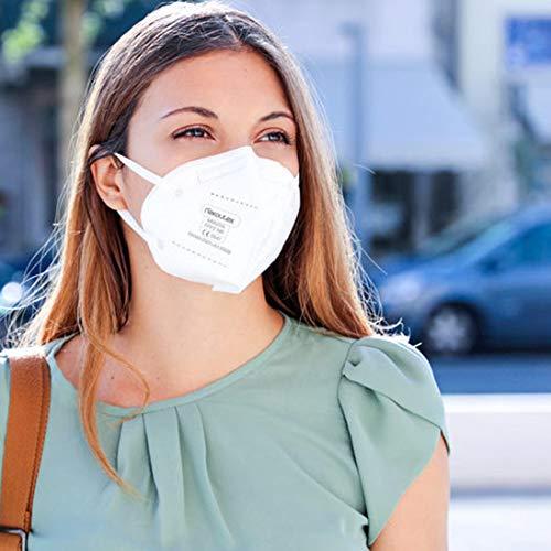 FFP2 Premium Atemschutzmasken in hygienischer luftdichter Einzelverpackung vom Deutschen Hersteller, 4-Schichten Schutz der Atemwege mit CE (NB2841), 10 STK. - 7