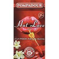 Pompadour Té Infusion Hot Love - 20 bolsitas - [Pack de 2]