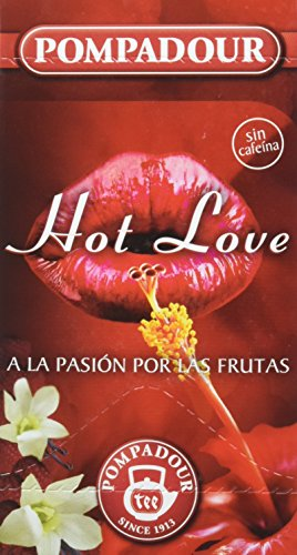 Pompadour Té Infusion Hot Love - 20 bolsitas - [Pack de 2]