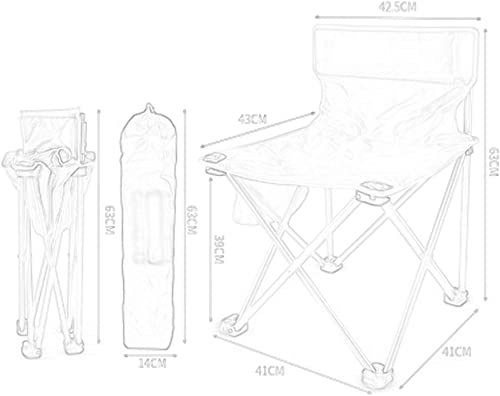 XINGZHE Chaise de Camping en Plein air Chaise Pliante Ultra légère portable Loisirs siège de pêche Tabouret Pliant en Plein air (Couleur   B)