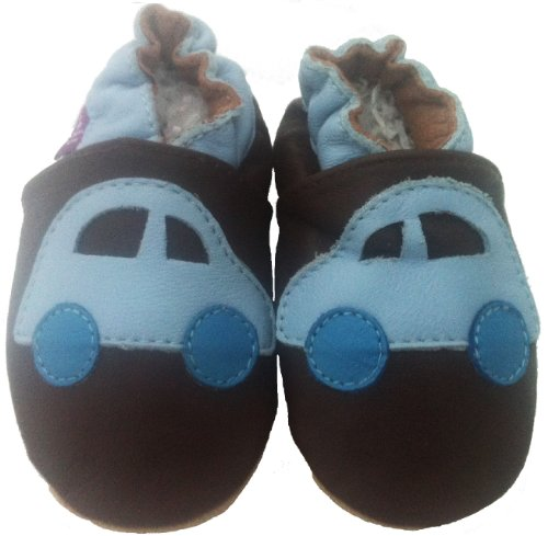 Tiny's - Morbida Pelle Bambino Calzature - Auto - 0-6 Mese