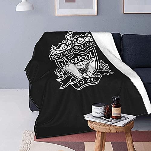 Manta de felpa de Liverpool Football Club, suave y cálida, con impresión digital, ultra suave, para sofá, cama, sala de estar, todas las estaciones, fabricada en Reino Unido