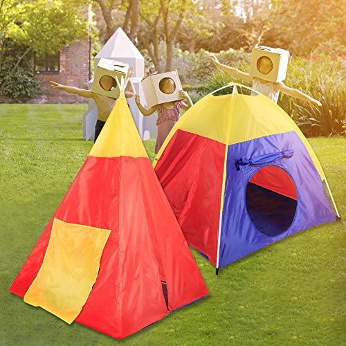 SOULONG Children's Play Tent, 7 in 1 Tent Toy House with Tunnel for Children, Folding Teepee Tent for Children Outdoor/Indoor/Picnic/Garden