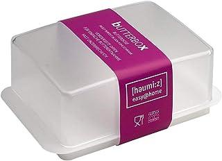 HomeXpert 302301 botervloot, kunststof, 15 x 10 x 10 cm, wit