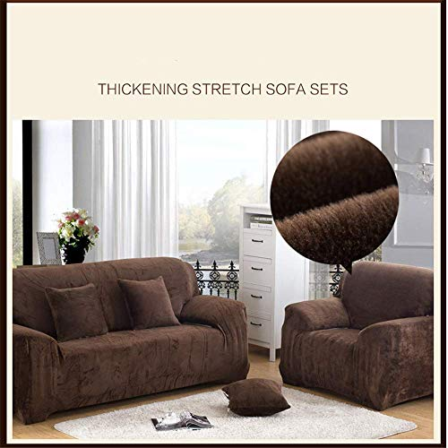 SONGHJ Thick Plush Sofabezug All-Inclusive rutschfest Staubdicht Chaiselongue Sofabezug 1 2 3 4-Sitzer