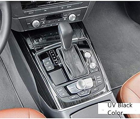 Hdcf Schalthebel Bedienfeld Abdeckung Verkleidung Aufkleber Mittelkonsolenverkleidung Innendekor Verkleidung Für A6 C7 High Configuation Uv Schwarz Auto