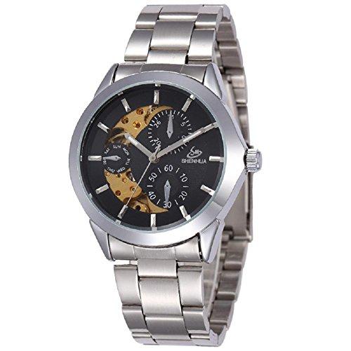 Montre Mécanique Automatique Bracelet en Acier étanche montre, 2