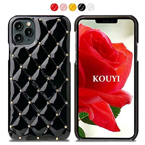 KOUYI Kompatibel mit iPhone 11 Pro Max, Leder Tasche Slim und Lightweight Backcover Handytasche Leder Hülle Case mit Soft Microfaser Tuch Futter Bumper für iPhone 11 Pro Max (6,5 Zoll) (Schwarz)