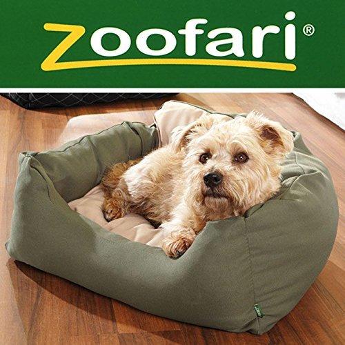 Zoofari® Hundebett (dunkelgrün/beige)