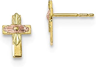 Best 10k gold cross earrings Reviews