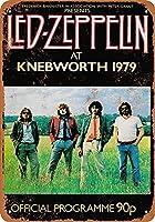 1979年レッドツェッペリン、クネブワース12 X8インチレトロメタルティンサイン-ヴィンテージアートポスタープラーク