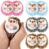8 Pieces Mini Hedgehog Plush Toys Animal Stuffed DIY Keychain Accessories 4 Inch Hedgehog Plush Stuffed Toy Decorations for Baby Birthday Shower Xmas Wedding Party Favors