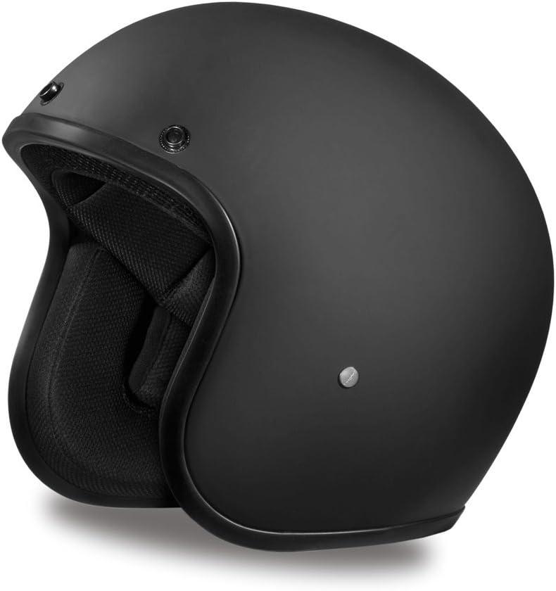 Dull Black 100/% DOT Approved Daytona Helmets Motorcycle Open Face Helmet Cruiser