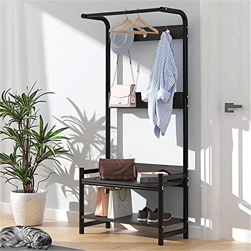 TEET Perchero de ropa rack de ropa rack estante estante de zapatos bolsa percha almacenamiento armario organizador 1.6 m casa oficina interior