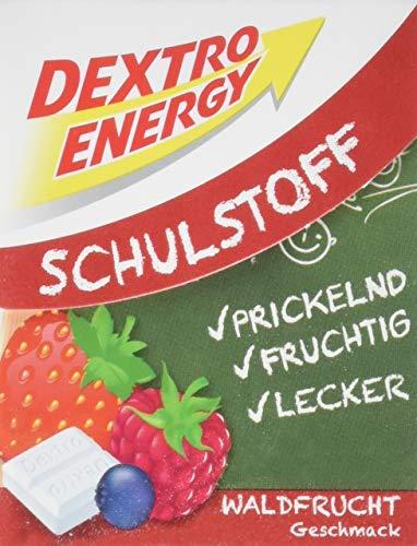 Dextro Energy Schulstoff Waldfrucht / Mini Traubenzucker-Täfelchen mit schnell verfügbarer Glucose und Prickel-Spaß (1 x 50 g)
