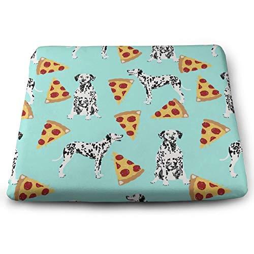 Badwang Memory Foam Pad zitkussen. Autostoel kussens om hoogte te verhogen - bureaustoel Comfort kussen - Dalmatian Pizza Aqua Crew