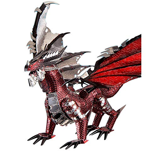 CTDMMJ 3D Metal Puzzle The Black Dragon Model DIY    Assemble Jigsaw Toy Decoración de Escritorio