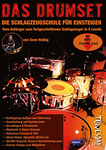 Das Drumset - Schlagzeug-Lehrbuch für Einsteiger mit Playalongs - Drums lernen mit Schlagzeugschule inkl. Audio- + Video-Download