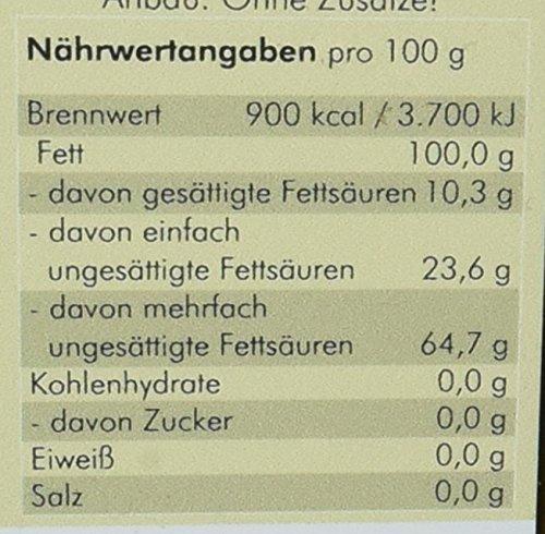 Manako BIO Leinöl human ABSOLUT FRISCH ab Ölmühle Glasflasche, 1er Pack (1 x 750 ml) – Bio - 4