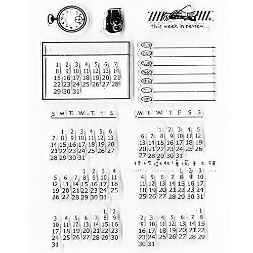 Vientiane Transparante rubberen stempel, transparante stempel, kalender sjablonen, DIY Seal Card Scrapbook voor knutselwerk ter decoratie van notitieboeken