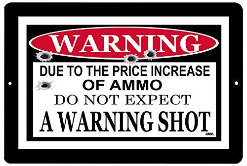 Rogue River Tactical Funny Warning No Trespassing Metal Tin Sign No Warning Shot Given Pro Gun